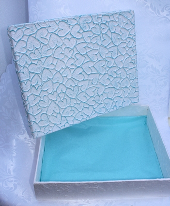 Kadodoos blauwe harten - geschenkdoos