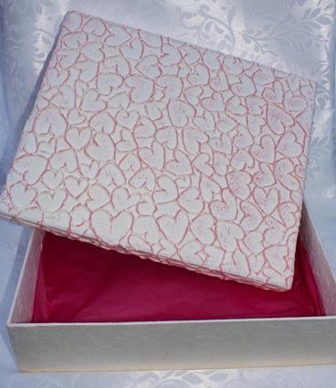 Kadodoos roze harten - geschenkdoos
