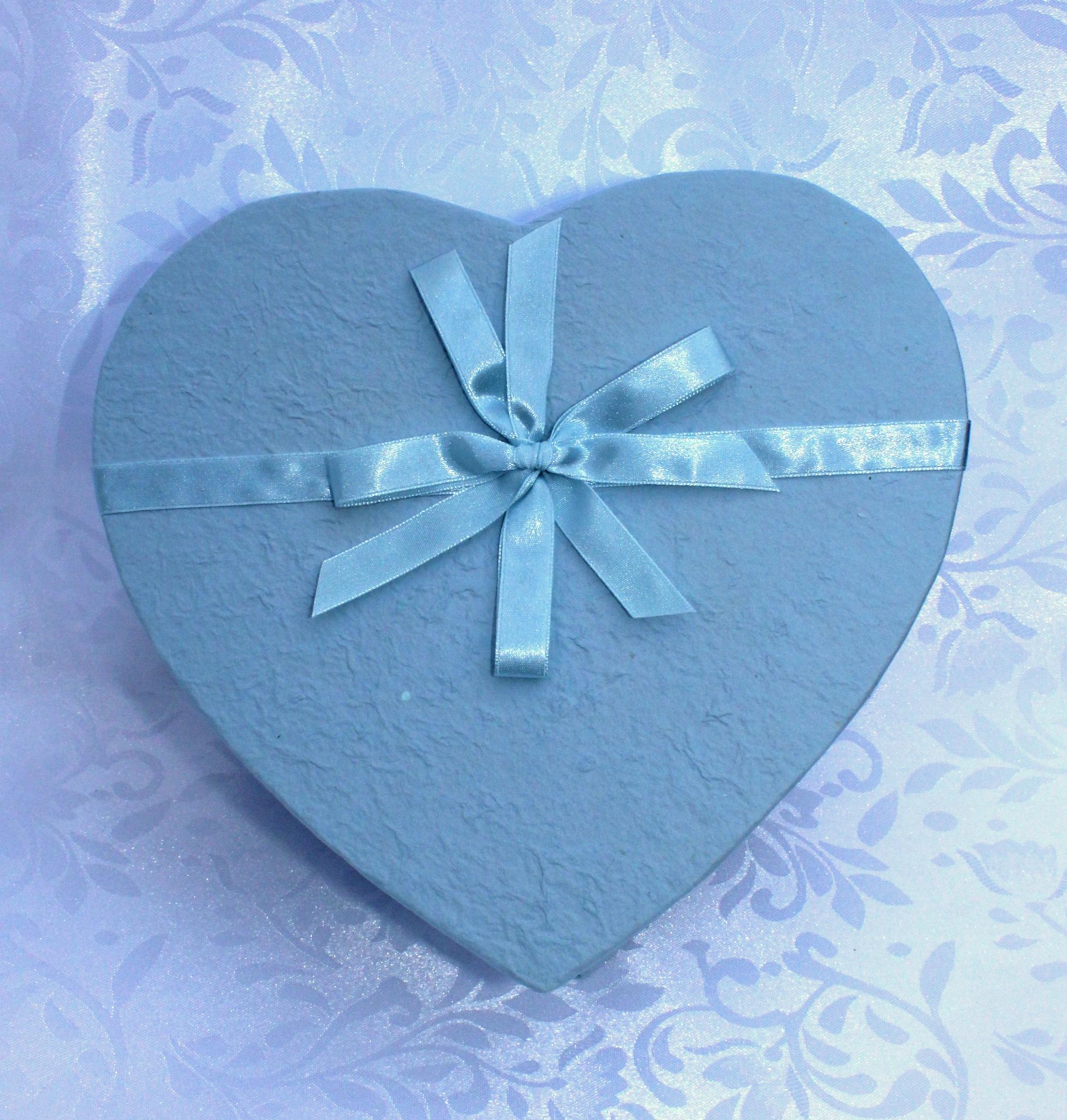 Kadodoos hart blauw - geschenkdoos hartvorm