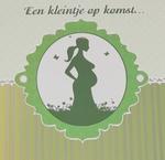 Felicitatiekaart Zwanger Groen glans
